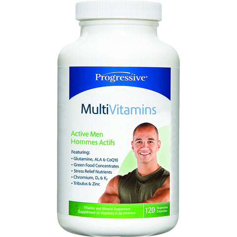 Progressive Men's Active Multivitamin 120 VCapsules Best Buy