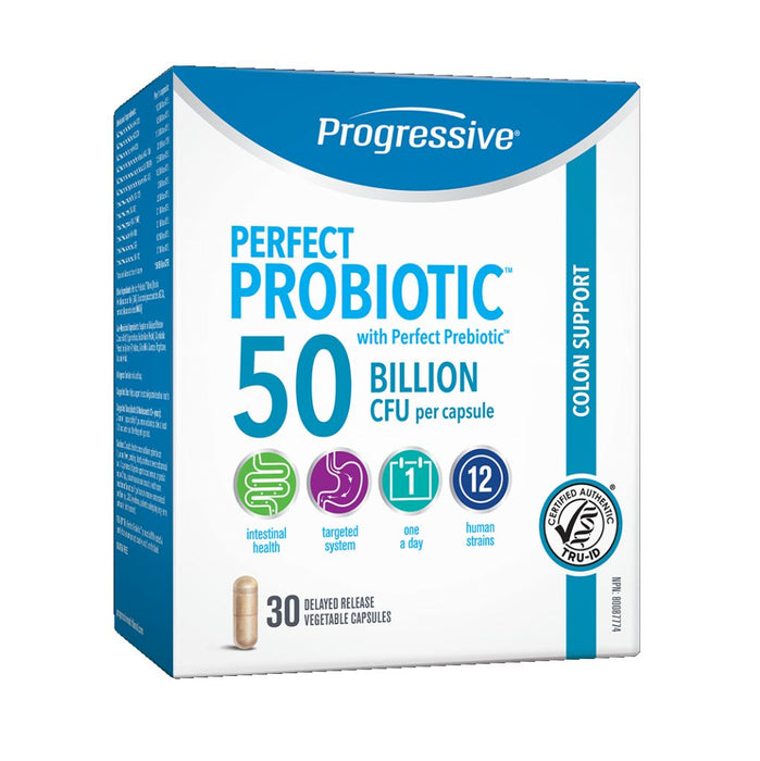 Perfect Probiotic Colon Support 50 Billion 30 Cap: Progressive