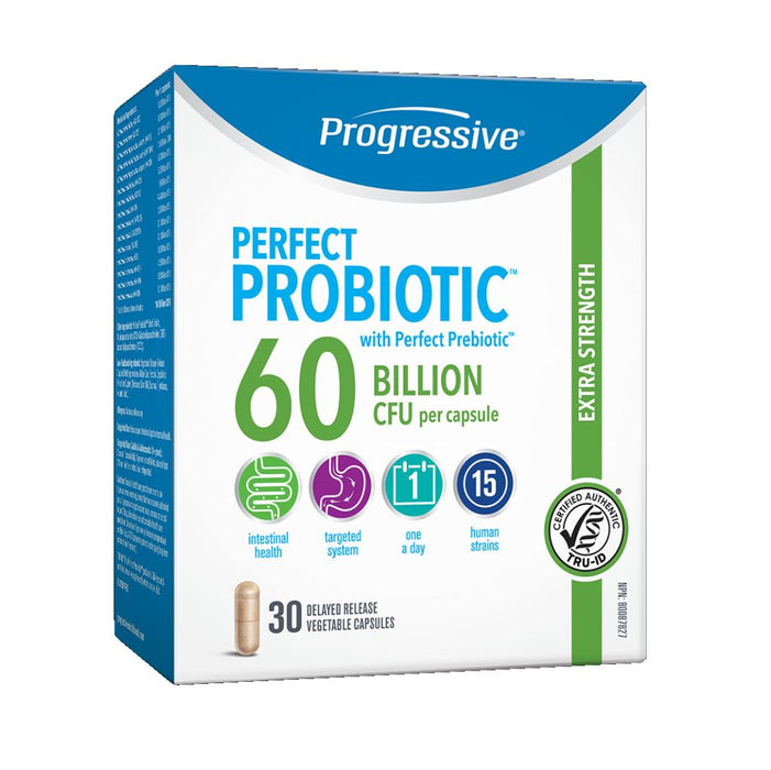 Perfect Probiotic 60 Billion 30 Caps: Progressive