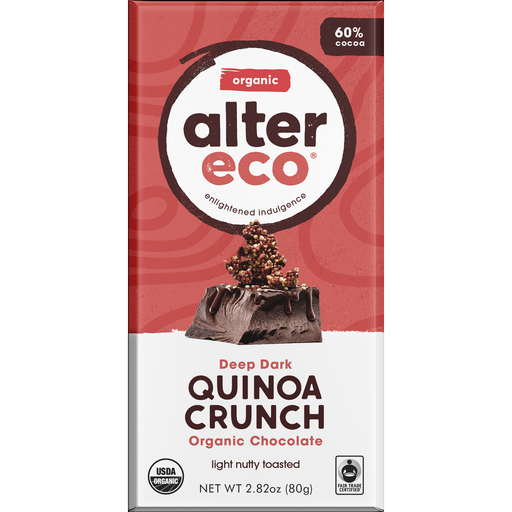 Alter Eco Deep Dark Quinoa Crunch Chocolate Bar