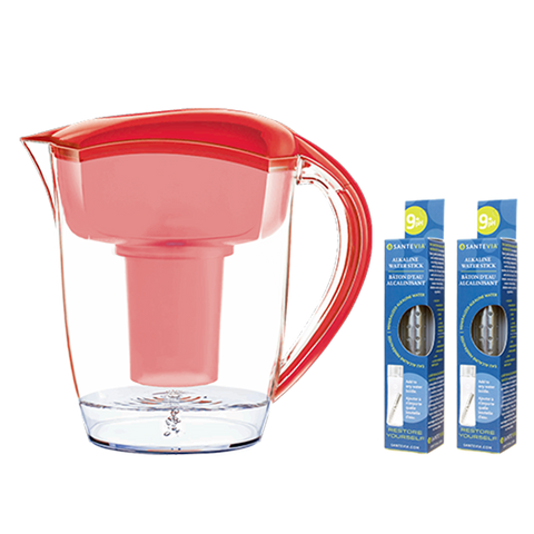 Santevia Water Pitcher Red Natural Food Pantry Online
