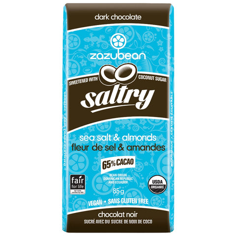 Zazubean Dark Chocolate Saltry 85g