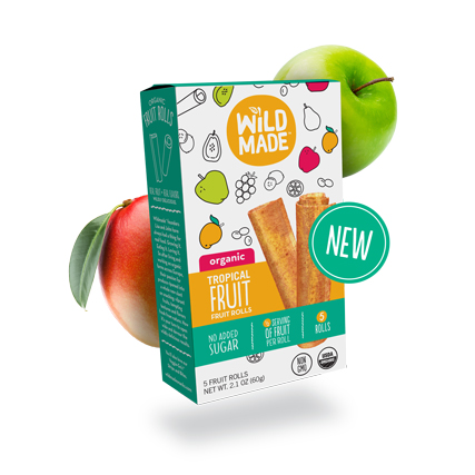 Wildmade Fruit Rolls Tropical Fruit 60g