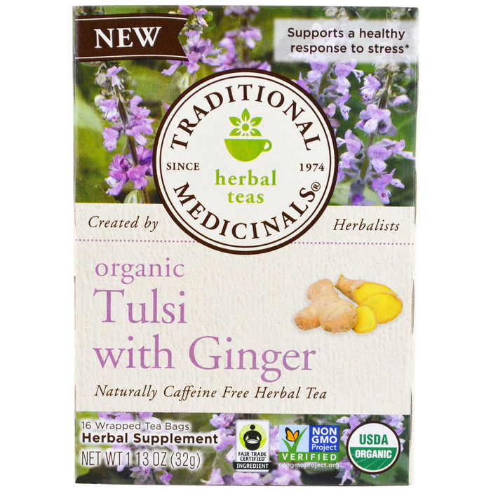 Traditional Medicinals Tulsi with Ginger Tea