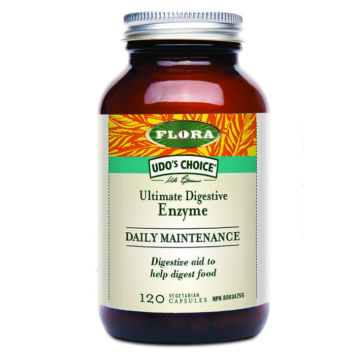 Udo's Choice Ultimate Digestive Enzyme Daily Maintenance 120 cap