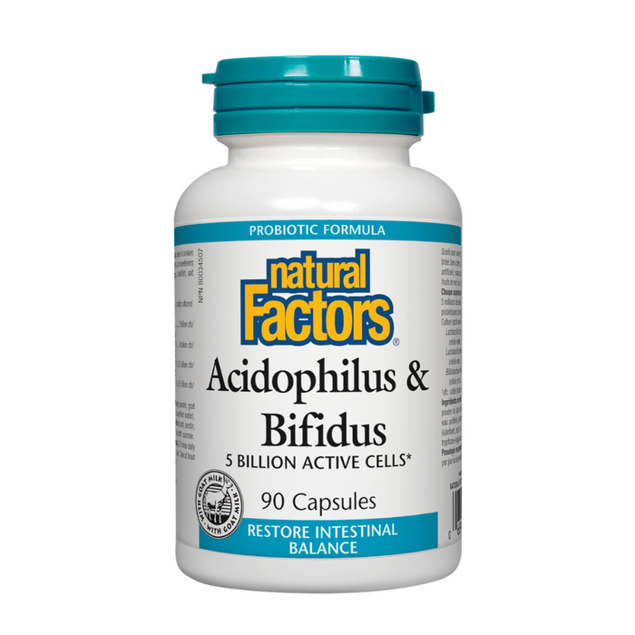 Natural Factors Acidophilus & Bifidus 90vcaps