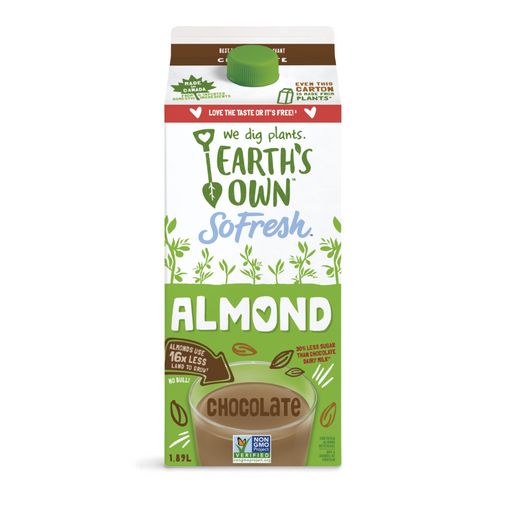Earth's Own G/F Almond Beverage Chocolate 1.89L