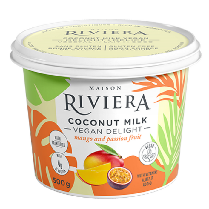 Riviera Vegan Coconut Milk Mango Passion Fruit 500g