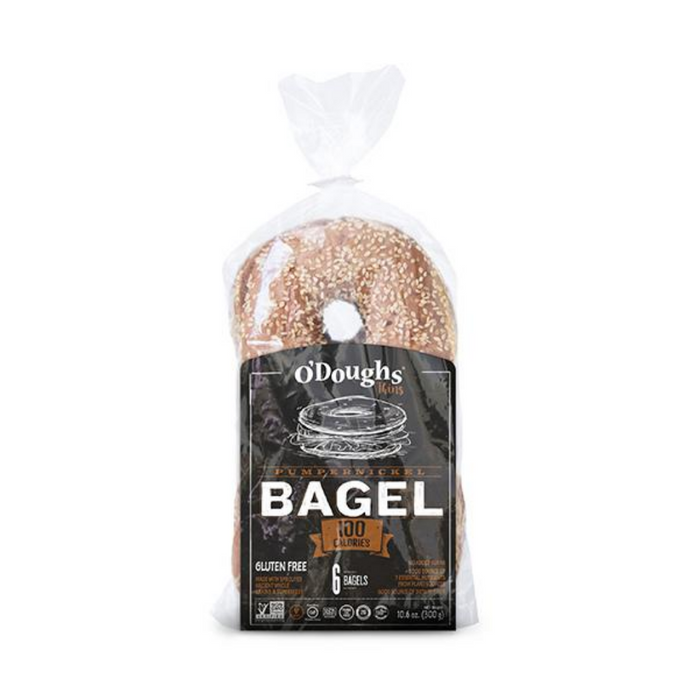 O'Doughs Pumpernickel Bagel 6 pack