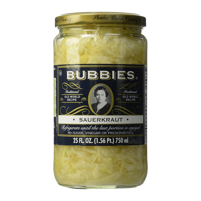 Bubbies Traditional Sauerkraut 750ml