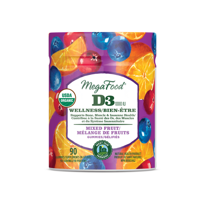 Megafood Gummies D3 Wellness Mixed Fruit 70 gums