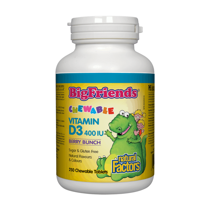 Natural Factors Big Friends Chewable Vitamin D Berry Bunch