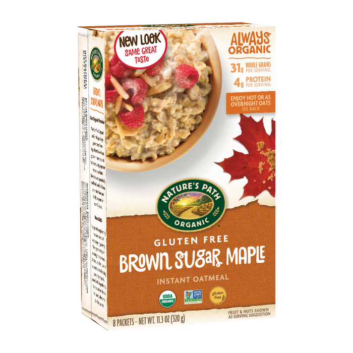 Nature's Path G/F Brown Sugar Maple Instant Oatmeal