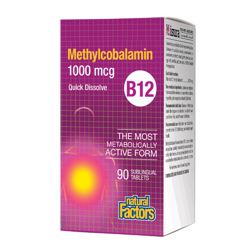 Natural Factors B12 Methylcobalamin 90tabs