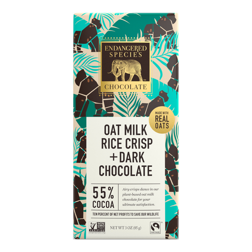 Endangered Species Oat Milk and Rice Crisp Chocolate Bar