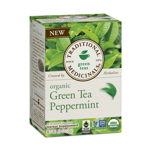 Traditional Medicinals Green Tea Peppermint Tea