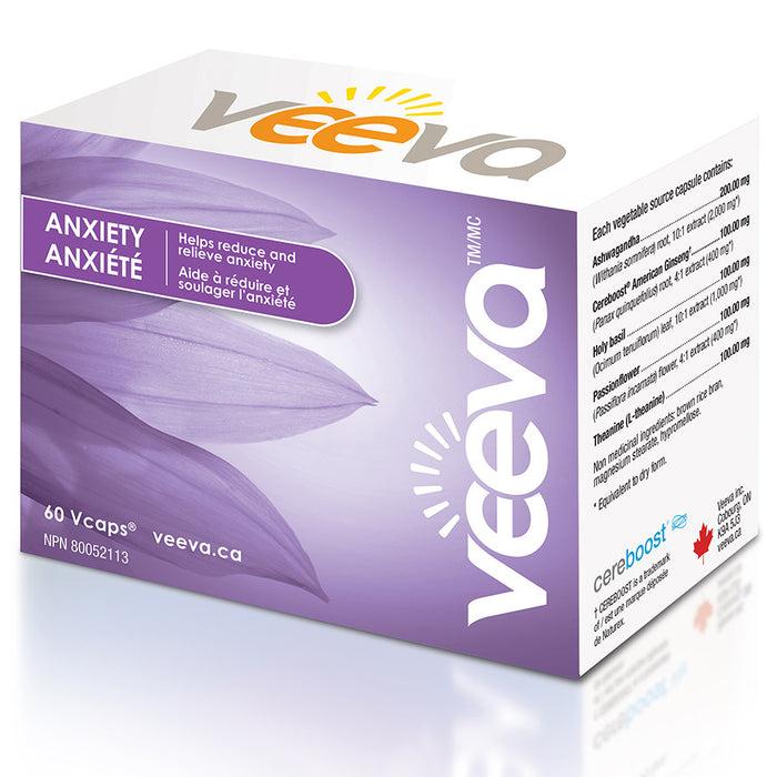 Veeva Anxierty Formula 60 caps at the Natural Food Pantry Ottawa