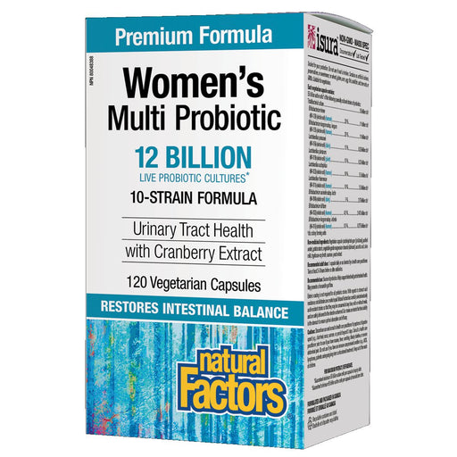 Natural Factors Probiotic Women's Multi Probiotic 12 billion Live Cultures 120 vcaps