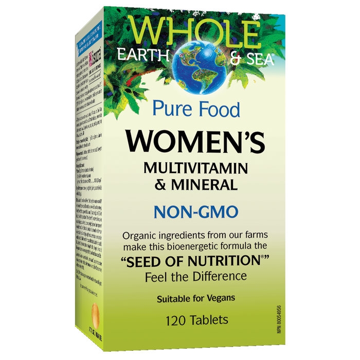 Women's Multivitamin & Minerals 120 tabs: Whole Earth and Sea