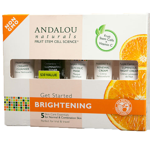 Andalou Naturals Get Started Brightening Skin Care Kit