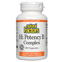 Natural Factors Hi Potency B Complex 50mg 90 caps