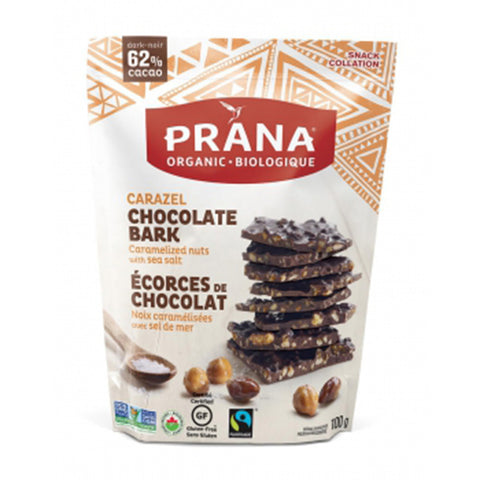 Prana Carazel Chocolate Bark 100g at the natural food pantry