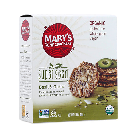 Mary's Super Seed Crackers Basil & Garlic