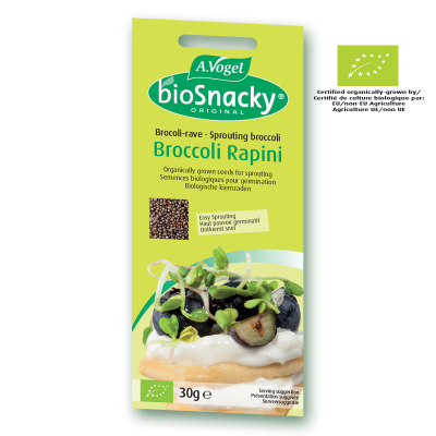 BioSnacky Broccoli Rapini sprouting seeds 30g