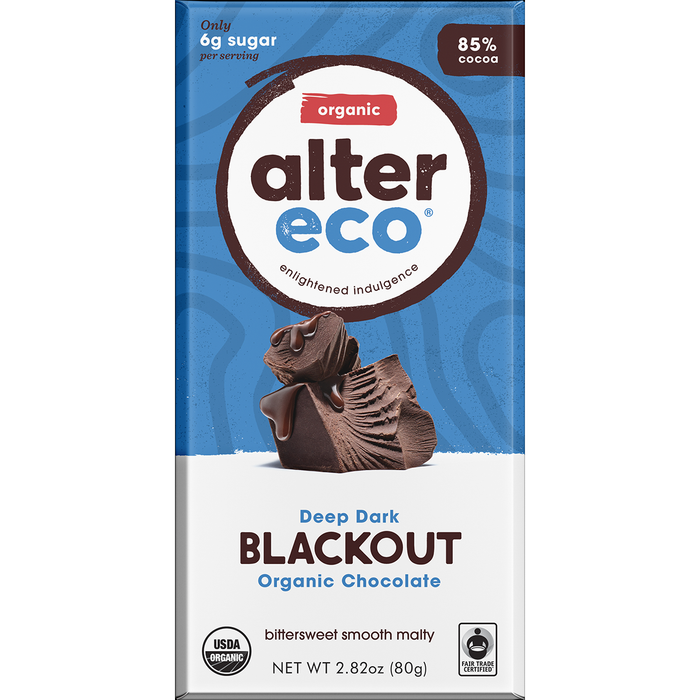 Alter Eco Deep Dark Blackout Dark Chocolate 85% Cocoa