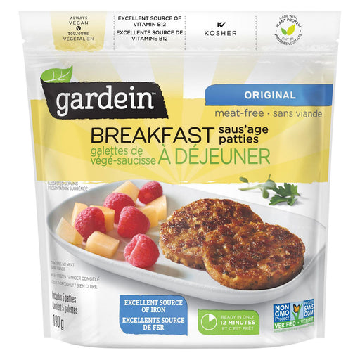 Gardein Breakfast Sausage Patties Original 190g