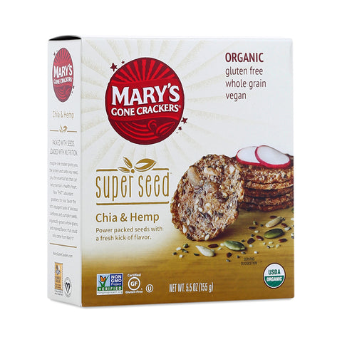Mary's Super Seed Crackers Chia & Hemp
