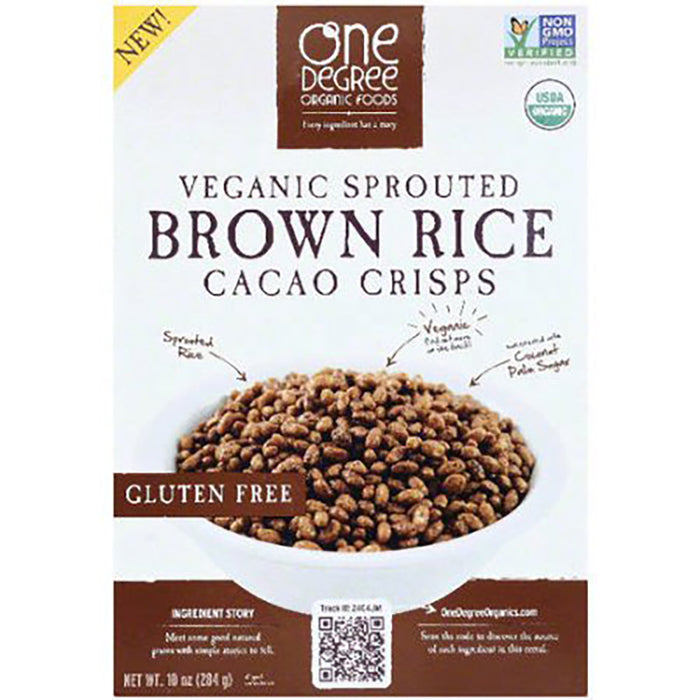 One Degree Vegan Sprouted Cacoa Brown Rice Crisps