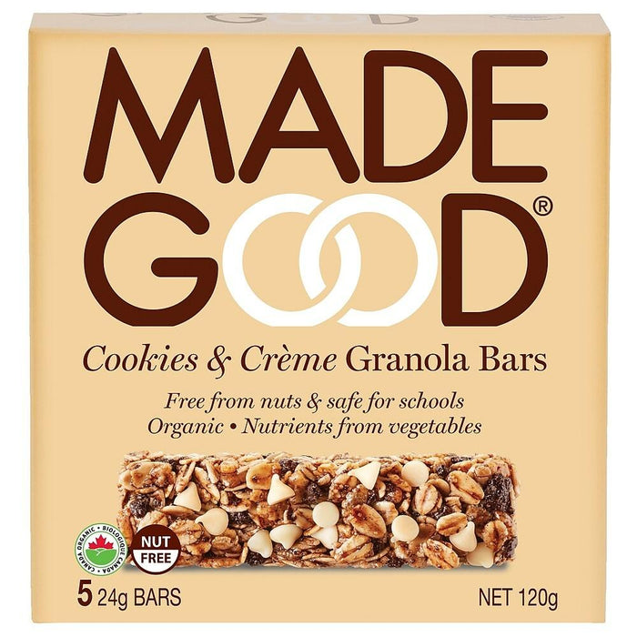 Made Good Cookies & Cream Granola Bars 5pk