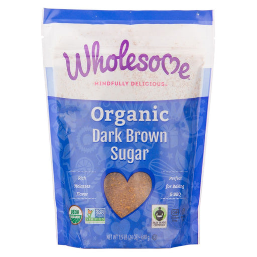 Wholesome Sweeteners Organic Dark Brown Sugar 680g