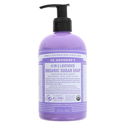 Dr. Bronner's Organic Sugar Soap 4-in-1 Lavender 355ml