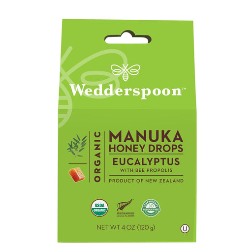 Wedderspoon Organic Honey Drops Eucalyptus 120g