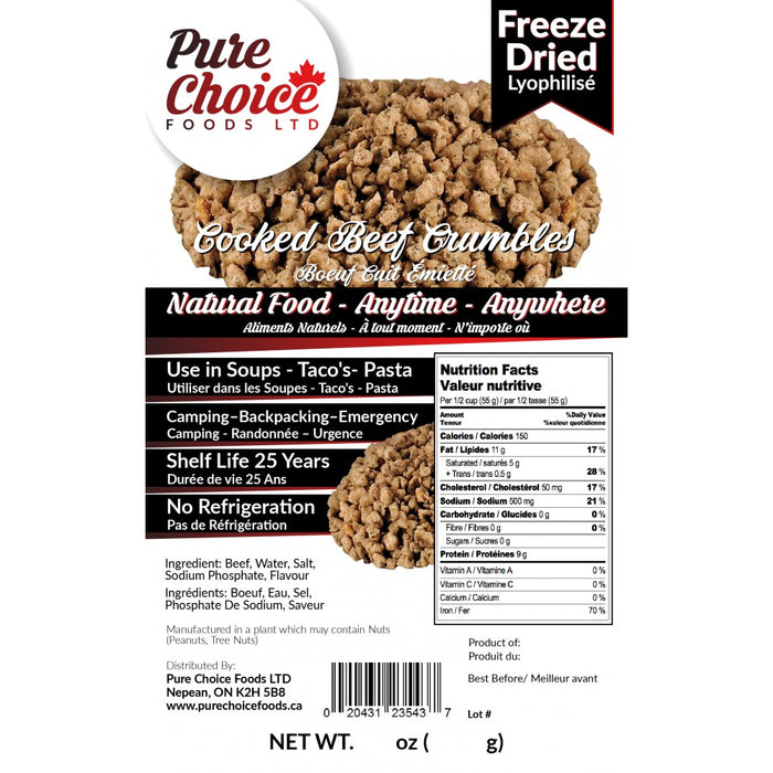 Pure Choice Freeze Dried Beef Crumbles