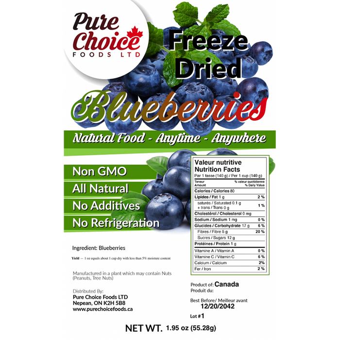 Pure Choice Freeze Dried Blueberries