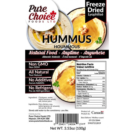 Pure Choice Freeze Dried Hummus