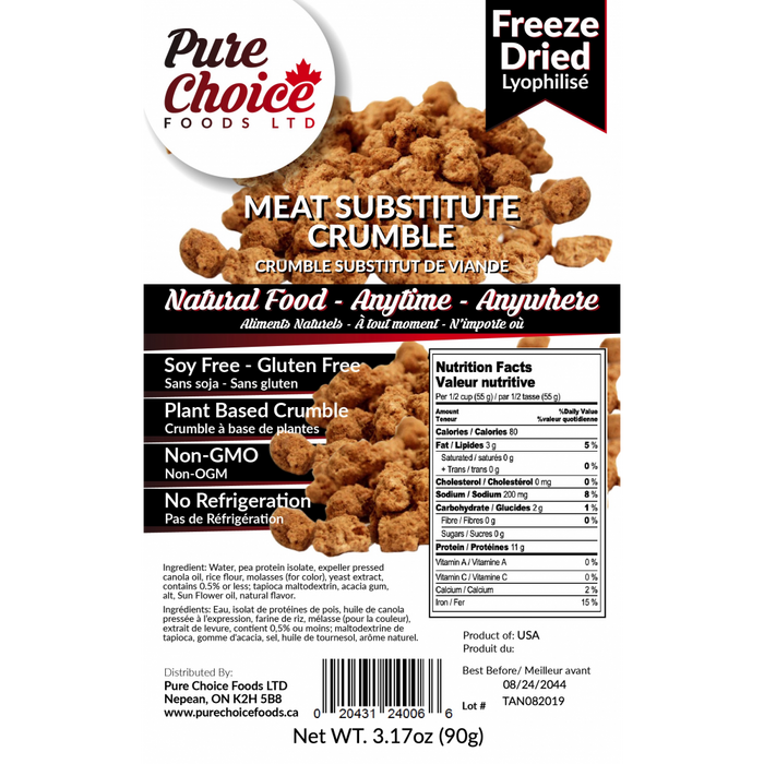 Pure Choice Meat Substitute Crumble