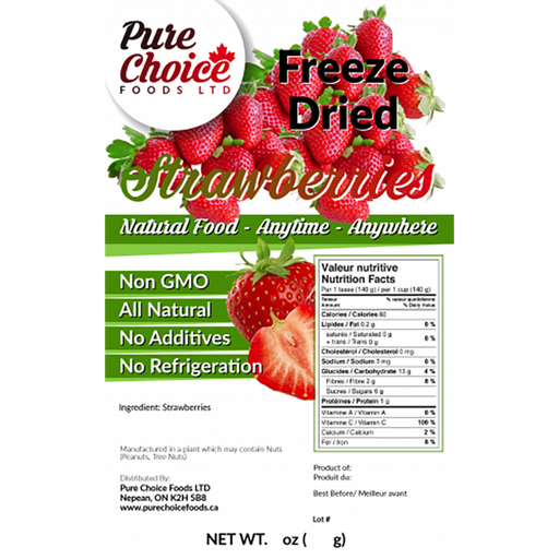 Pure Choice Freeze Dried Strawberries