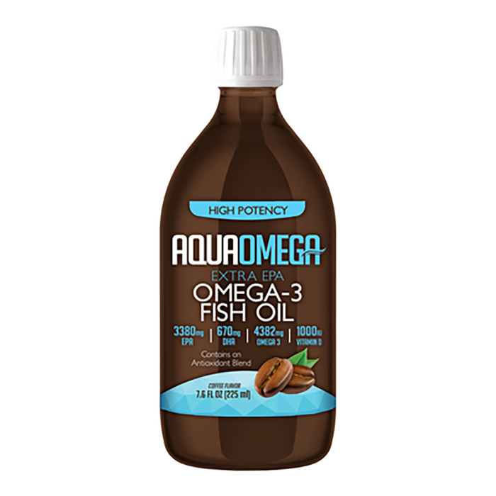 Aquaomega High Potency Fish Oil Coffee 225 ml