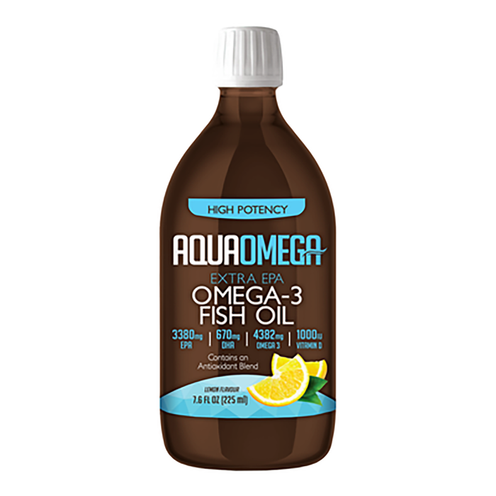 Aquaomega High Potency Fish Oil Lemon 225 ml