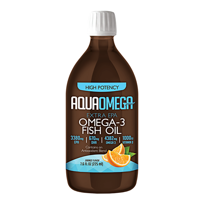 Aquaomega High Potency Fish Oil Orange 225 ml