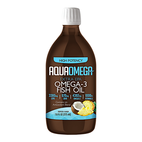 Aquaomega High Potency Fish Oil Tropical 225 ml