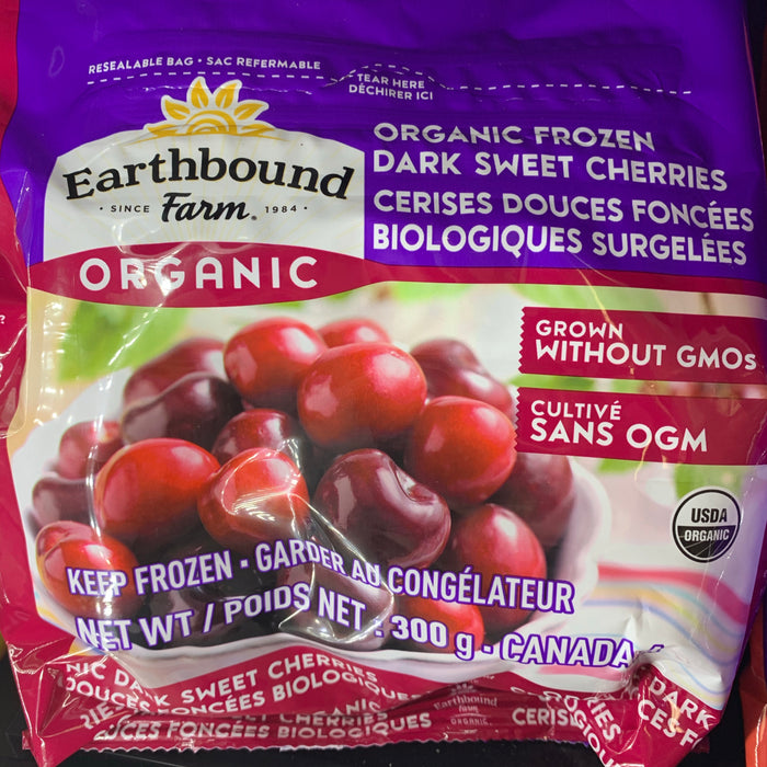 Earthbound Farm Organic Frozen Sweet Dark Cherries 300g