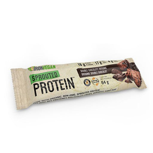 Ironvegan Sprouted Protein Bar Double Chocolate at Natural Food Pantry