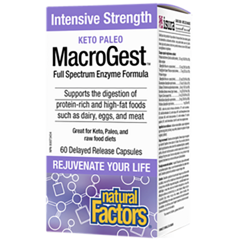 Natural Factors Macrogest Keto Paleo 60 Vcaps