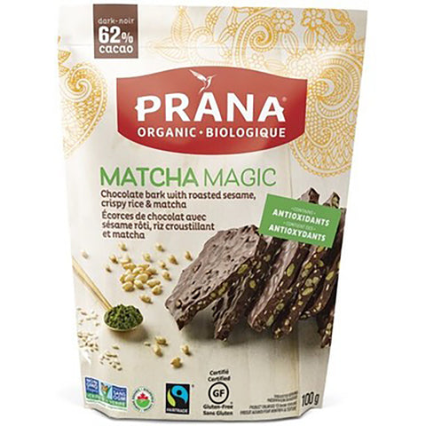 Prana Matcha Magic Chocolate Bark 100g