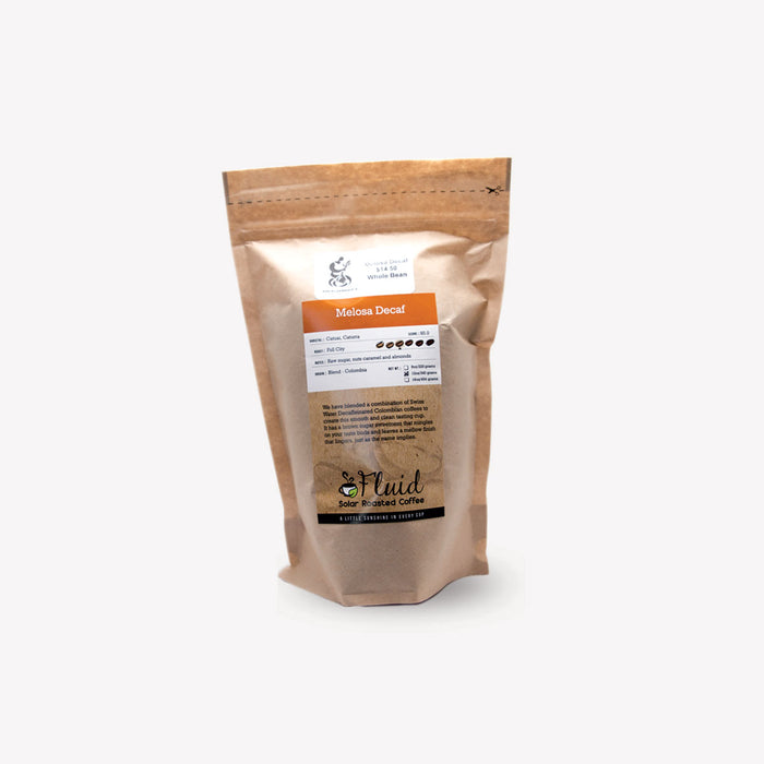 Fluid Solar Coffee Whole Bean Melosa Decaf 340g